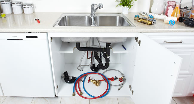 Kitchen Plumbing Services in Columbus, Michigan.